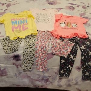 Girls Carter's Bundle of Tops and Pants- Sizes 4T